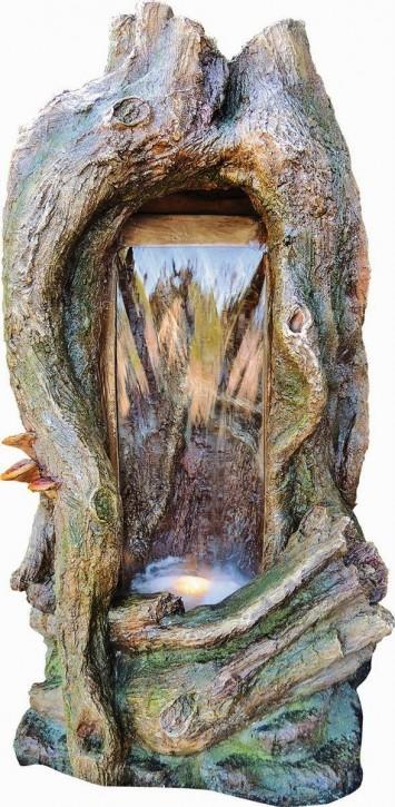 Gartenbrunnen Sino 102cm Polystone Wasserfall inkl. Pumpe und LED