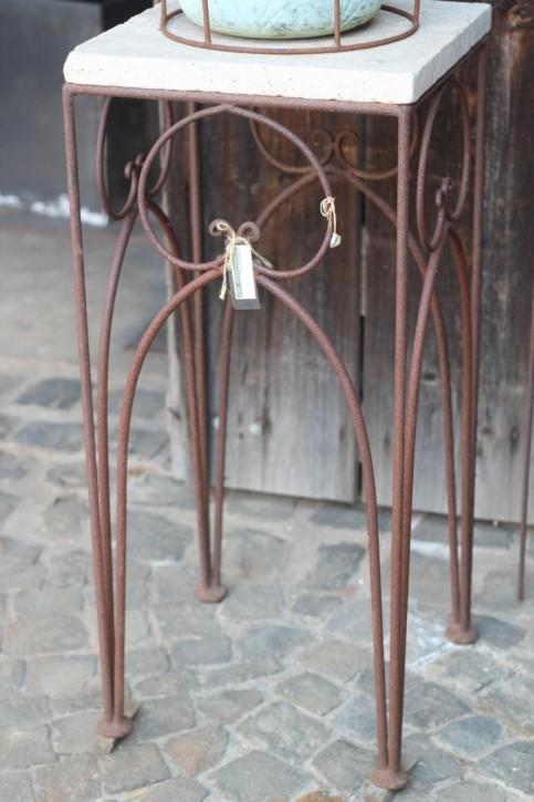 Vintage Eisentisch Edelrost 40x40 | Shabby, Landhaus & Cottage