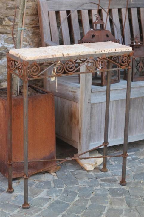 Konsolentisch Edelrost 60x20x77cm Tisch für Heim und Garten Vintage & Shabby-Chic Stil