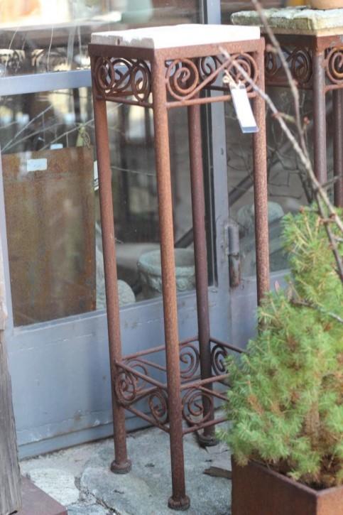 Vintage Eisentisch Edelrost 20x20x77cm Shabby, Landhaus & Cottage