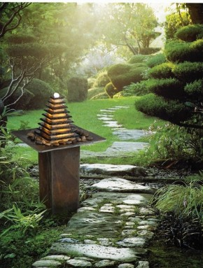 AUSSTELLUNGSSTÜCK - NUR ABHOLUNG! Zimmerbrunnen Pyramide 95 Feng Shui Schiefer Brunnen