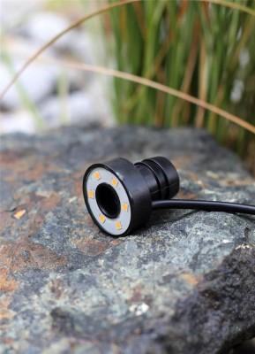 6er LED Ring warm weiß Unterwasser Beleuchtung für Quellsteine Wasserspiele