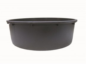 PE Becken mit GFK Deckel Ø120x35 inkl. Stütze + Pumpe Oase Aquarius Universal Eco 3000