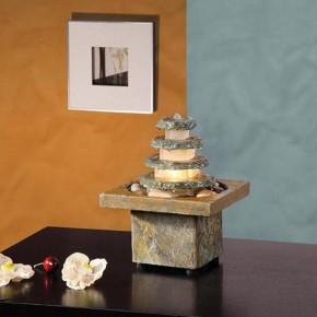 Zimmerbrunnen Masao 27 Feng Shui Schieferbrunnen inkl. Beleuchtung