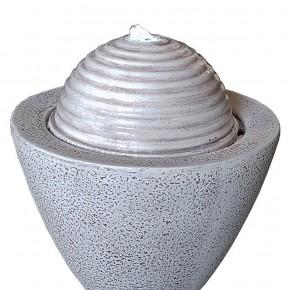 Brunnen Saturn 40 weiß inkl. Pumpe und LED Luftbefeuchter modern