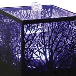 Zimmerbrunnen Mistique 18 Metall Lichtbrunnen inkl. Pumpe LED Wechsellicht